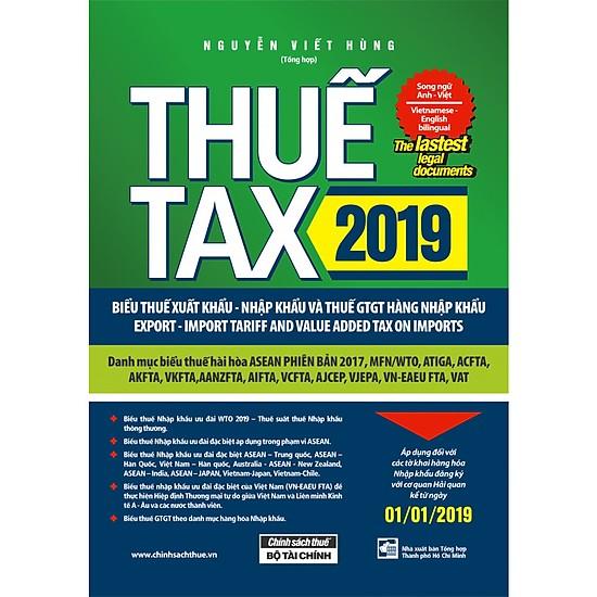 Thuế xuất nhập khẩu 2019