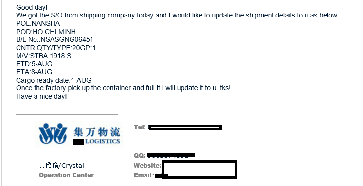công ty forwarder