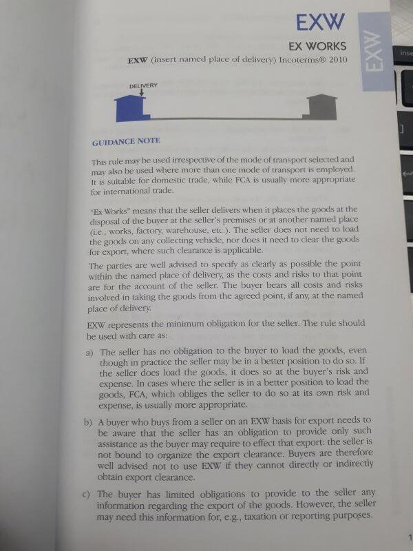 Điều kiện exw trong incoterm 2010