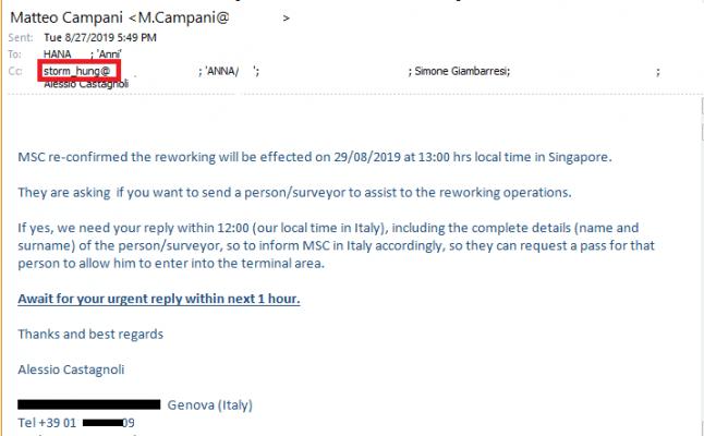 MSC thông báo ngày mở container và người giám sát